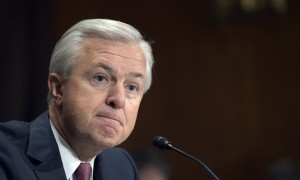 John Stumpf will also forfeit unvested equity awards worth about $41m, according to reports. Photograph: Susan Walsh/AP